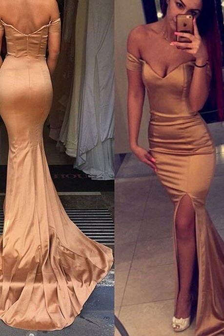 Prom Dresses,Mermaid Prom Dress,Satin Prom Dress,Off The Shoulder Prom Dresses,Formal Gown,Corset Evening Gowns,Party Dress,Mermaid Prom Gown For Teens,Evening Gowns,Lace Party Gowns