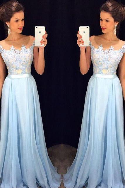 High Quality Prom Dress,Chiffon Prom Dresses,A-Line Prom Dress,Charming Prom Dress,Appliques Prom Dress, Evening Dresses