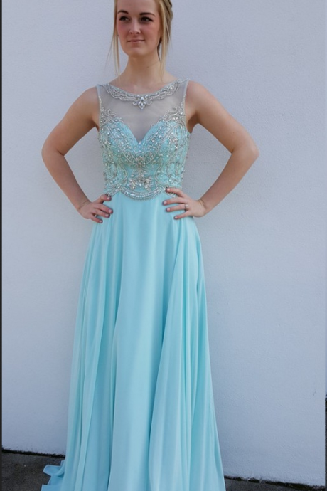 Chiffon Prom Gowns,Sparkle Prom Dresses,Long Party Dresses,Simple Prom Dress,Elegant Evening Gowns