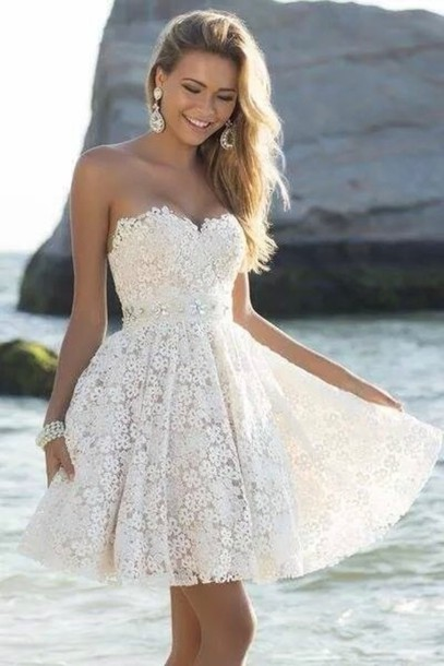 Short Homecoming Dresses,Lace Party Dresses,Sweetheart Graduation Dress,Dress For Graduation,White Homecoming Dress ,Short Homecoming Dress