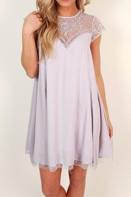 Cute Lilac Homecoming Dress,Short Sleeve Prom Dress, Tulle Casual Dresses, Lilac Formal Dresses, Graduation Dresses, Evening Dresses,Evening Dresses,Formal Gowns Plus Size, Cocktail Dresses, formal dresses,Wedding guests dresses