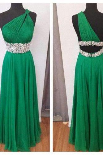 Chiffon Prom Dress,One-Shoulder Prom Dress,A-Line Prom Dress, Charming Prom Dresses,Long Prom Dresses,Evening Dresses, Prom Dresses,Long Beading Prom Dresses, Cocktail Dresses, formal dresses,Wedding guests dresses