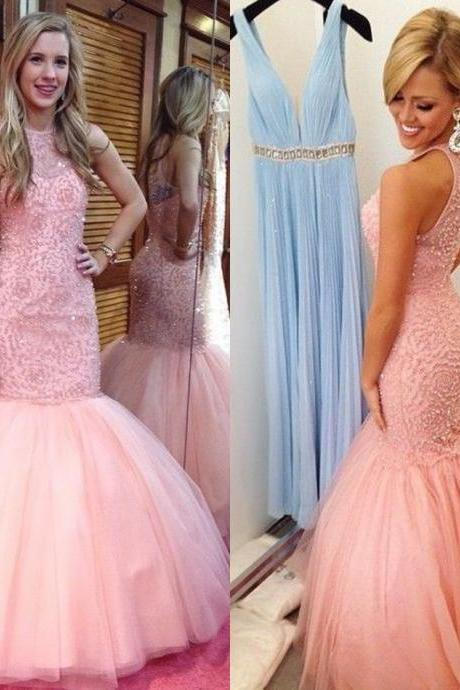 Custom Made High Quality Prom Dresses,cheap Mermaid Prom Dress,charming Tulle Prom Dress,O-Neck Prom Dress, Beading Prom Dress,Sexy Appliques Prom Dress,Girl's Graduation Dress,Formal Gowns Plus Size, Cocktail Dresses, formal dresses,Wedding guests dresses