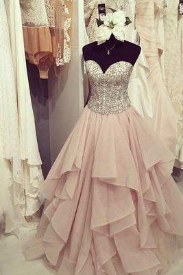 Custom Charming Sweetheart Chiffon Prom Dresses,Beading Layered Evening Dresses,Beauty Evening Dresses,Long Prom Dresses,Evening Dresses, Prom Dresses,Long Beading Prom Dresses, Cocktail Dresses, formal dresses,Wedding guests dresses