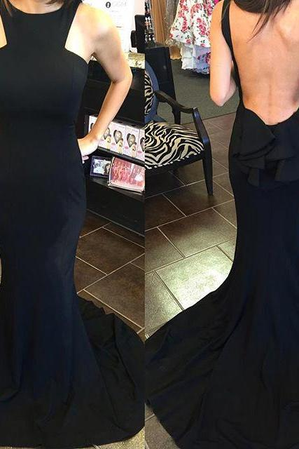Backless Prom Dresses,Mermaid Prom Dress,Black Prom Dress,Fashion Bridesmaids Dress,Sexy Party Dress, New Evening Dress