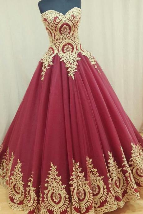 wine red wedding dress,burgundy wedding gowns,ball gown wedding dresses,bridal dress,Long Bridal Dresses