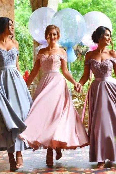Off Shoulder Sexy Bridesmaid Dress,Beautiful Custom bridesmaid dresses, Wedding Party Dresses,Long Bridal Gowns
