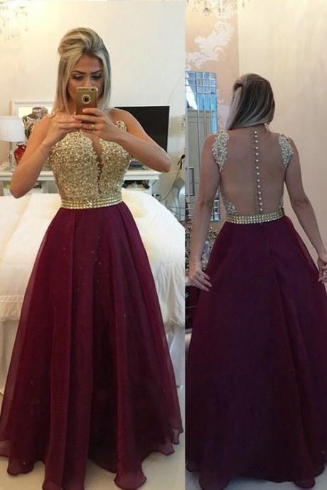Burgundy Formal Dresses,Burgundy Prom Dress,Fashion Prom Dress,Sexy Party Dress,Backless Evening Dress,Long Prom Dress,Lace Prom Dress