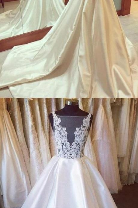Satin Wedding Dresses,Wedding Gown,Princess Wedding Dresses, Beautiful Wedding Dress ,brides dresses