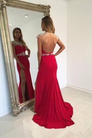 Backless Beading Charming Prom Dress,Real Made Prom Dresses,Long Evening Dresses,Prom Dresses On Sale,Party Dresses, Evening Dresses