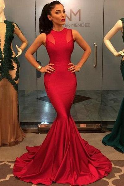 Sexy Prom Dresses,Red Prom Dress,Satin Evening Gown,Long Formal Dress,Prom Gowns,Night Club Dresses,Prom Dress
