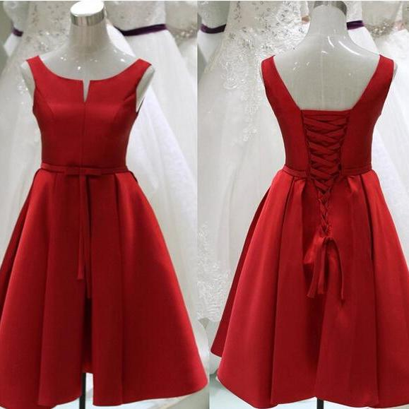 Red Homecoming Dress,Short Homecoming Dress,Chiffon Prom Gown,Prom Dress for Junior,Party Dress,Short Prom Dress
