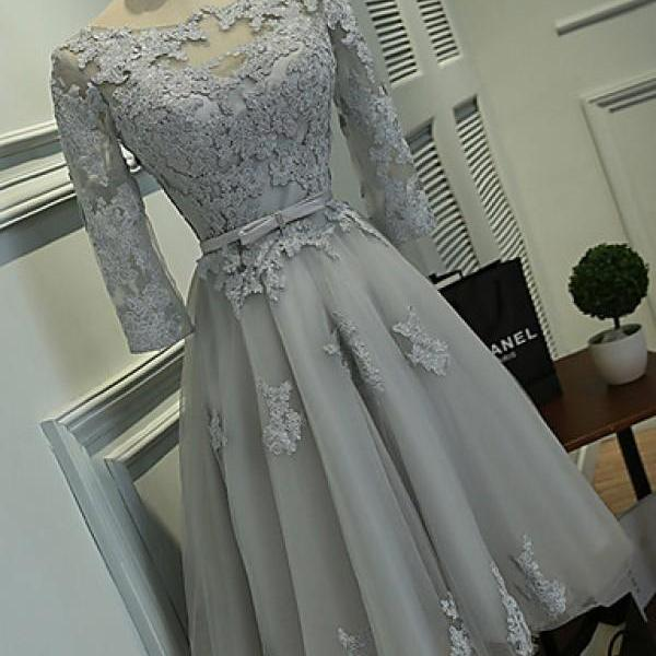Lace Homecoming Dresses, Long Sleeve Homecoming Dresses, Vantage Organza Homecoming Dresses, Homecoming Dresses, Dresses For Prom,Short Prom Dresses, Cheap Homecoming Dresses